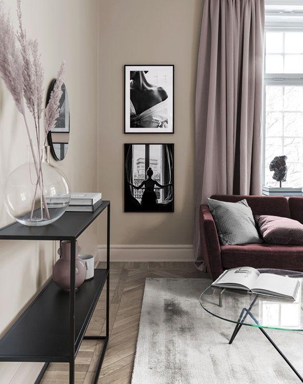 Inspiration Fur Schone Wohnzimmer Bilderwand Mit Postern In 2020 Gallery Wall Inspiration Wall Small Gallery Wall
