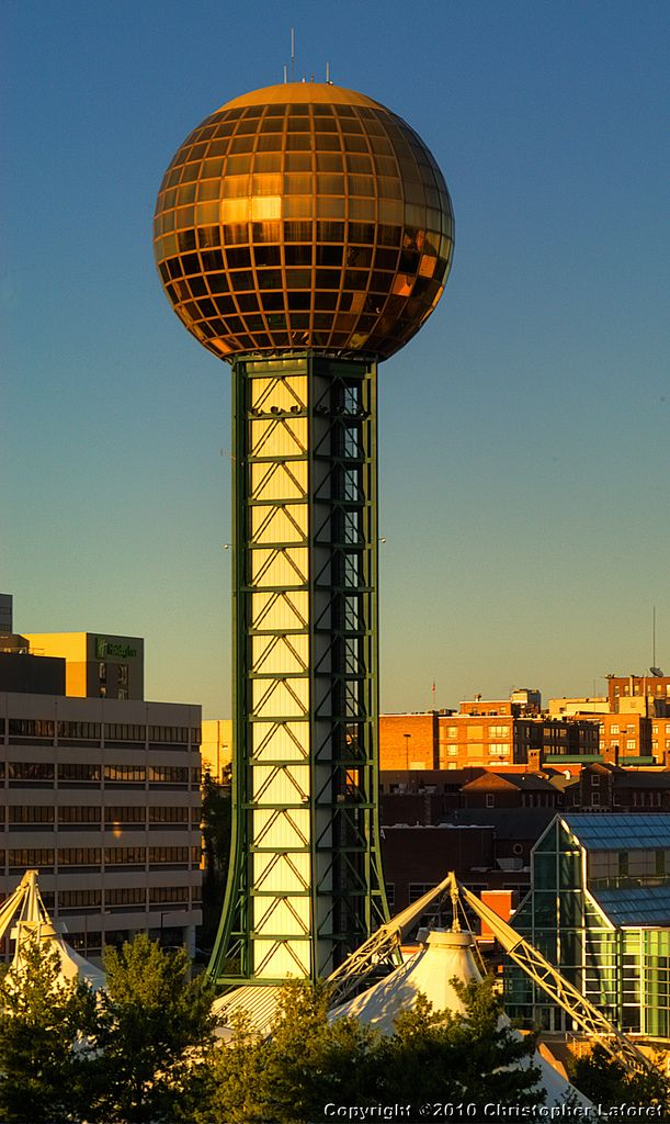 Sunsphere Tower, Knoxville, Tennessee.  Built for the World's Fair 1982. the year  I moved to Tennessee