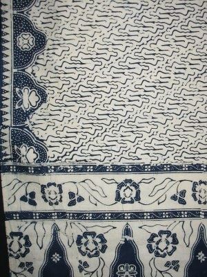 antique block printed 'selendang' (carrying scarf) from Java... batik