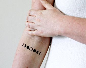 Moon phase temporary tattoo / moon temporary tattoo by Tattoorary                                                                                                                                                                                 More