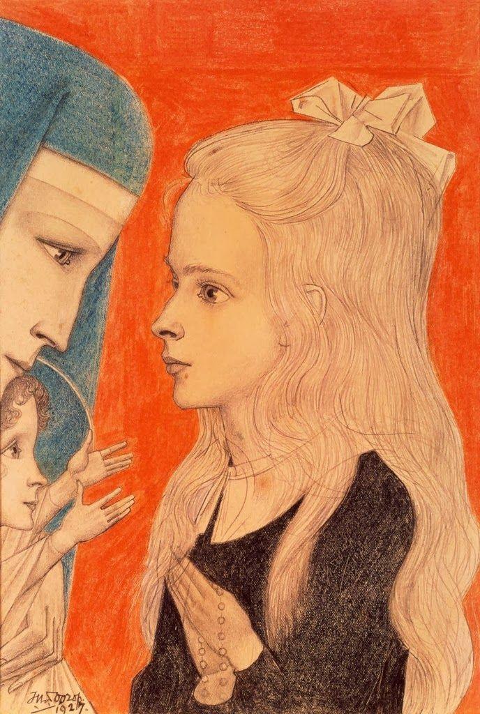 Jan Toorop, Biddend Meisje (Annetje), 1927