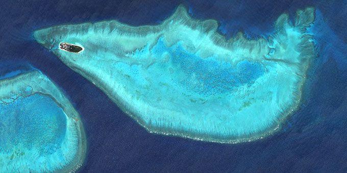 Η απίστευτη ομορφιά της Γης… από ψηλά! Το νησί Heron της Αυστραλίας μοιάζει με ψάρι