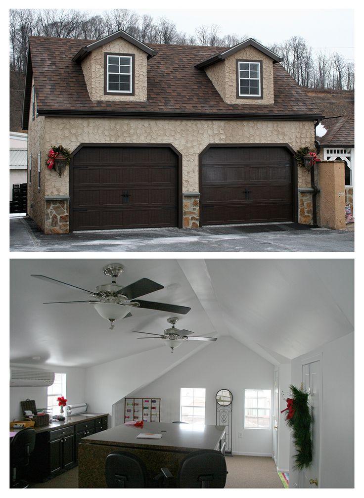 27 best two car garage plans images on pinterest garage for Stucco garage