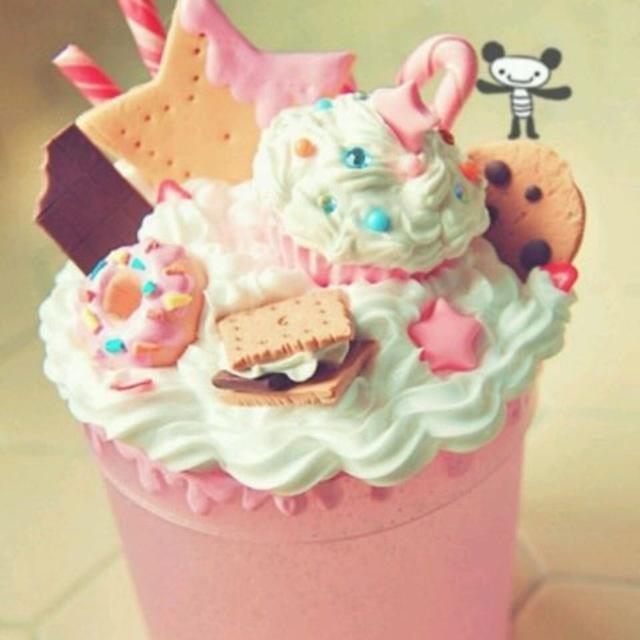 Birthday Cake Milkshake, Kawaii And Swirl Cake