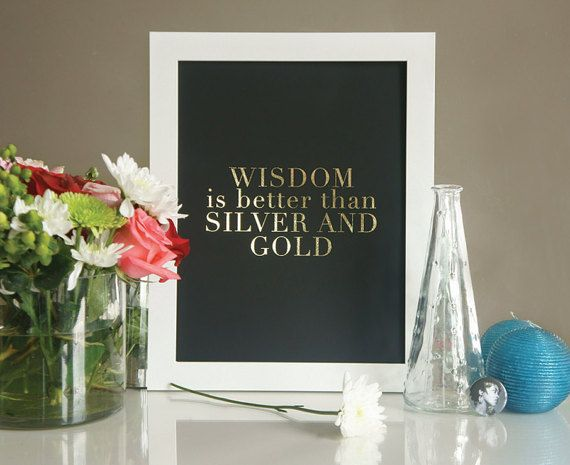 Lauryn Hill - Lost Ones Artwork - Wisdom is Better than Silver & Gold - Gold Foil Art Print - Hip Hop Lyrics