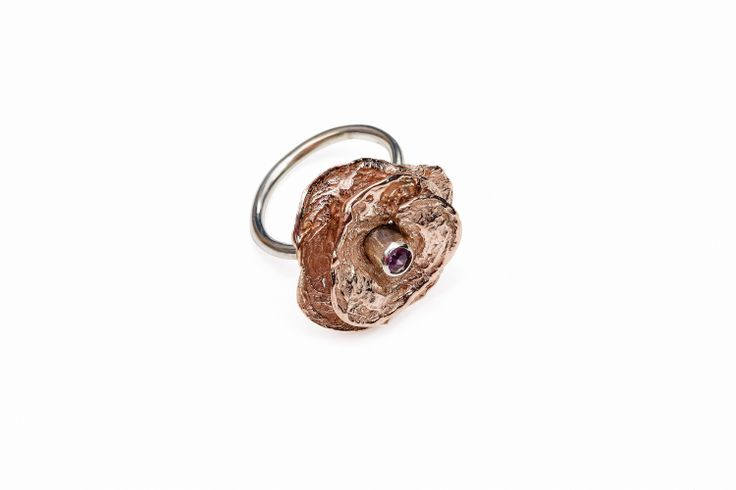Rose Gold Blossom Ring, Pink Tourmaline