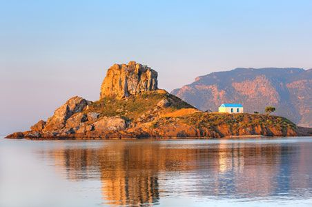 Kefalos view over tiny island #Kastri