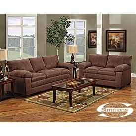Delightful Chocolate Brown Sofa And Loveseat