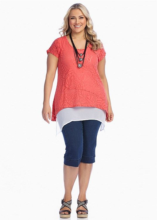 CLEARANCE - Plus Size Women's Clothing | Taking Shape - CARIBBEAN TOP