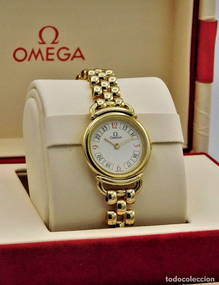 Omega Cyma Reloj Y Pulsera De Oro 18k De Dama Quarz En Fantastico