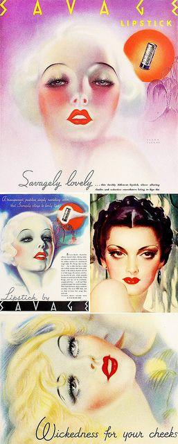 1930s makeup advertisements.