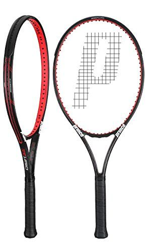 Prince Textreme Warrior 107T Tennis Racquet (4-1/8). Headsize: 107 sq. in. / 690.32 sq. cm. Length: 27in / 68.58cm. Strung Weight: 10.5oz / 297.67g. Strung Balance: 13.1in / 33.27cm / 3 pts (HL). String Pattern: 16 Mains / 19 Crosses.