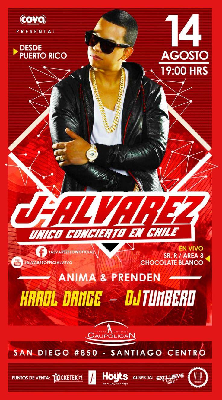 Diseño realizado para empresas COVA realizador del show de J-Alvarez en Chile!