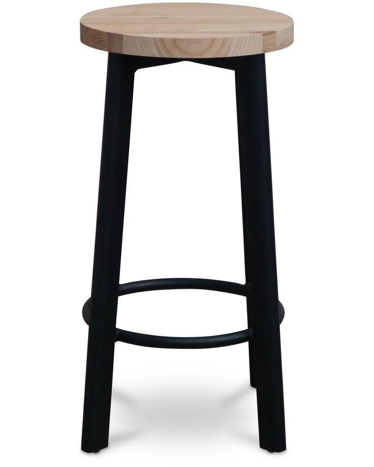 Jack indoor bar stool - black, 75cm - Cintesi