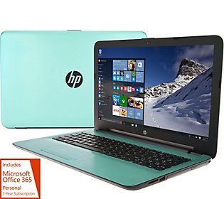 HP 15 Laptop Intel Quad Core 4GB, 1TB HD, PC Mover,AntiVirus & MS Office 365