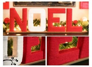 NOEL yarn wrapped letters