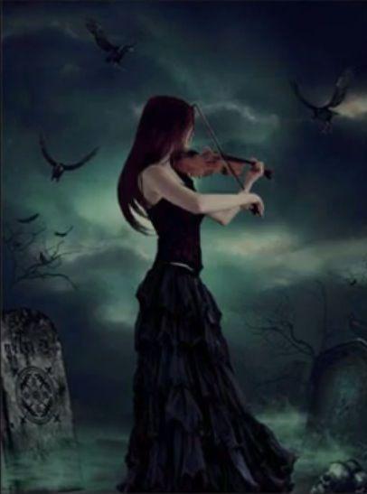 gothic angel photos | Gothic violin