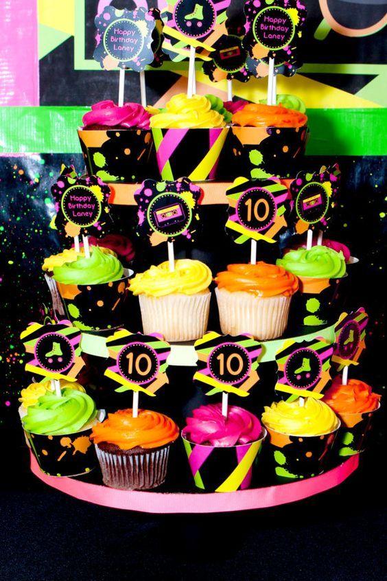 Resultado de imagem para festa neon 15 anos
