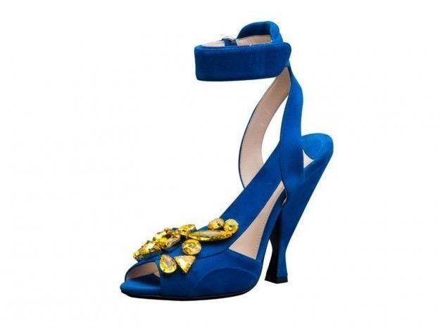 Sandali blu Prada