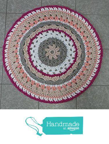 "Alfombra Trapillo ""Mandala"" de Petunia & Co. https://www.amazon.es/dp/B06XSM7XCR/ref=hnd_sw_r_pi_dp_loR0ybVRSFZ1J #handmadeatamazon"