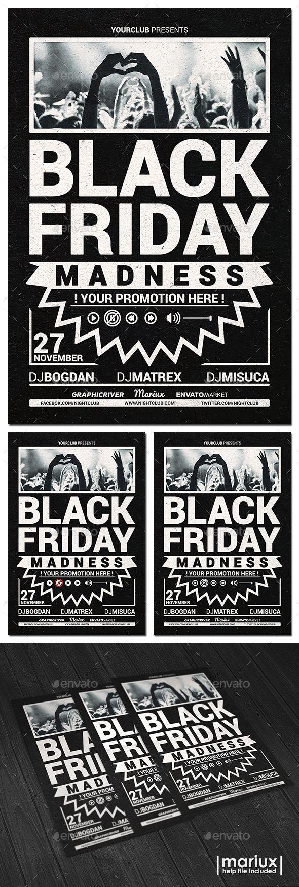 Black Friday Flyer Template PSD #design Download: http://graphicriver.net/item/black-friday-flyer/13403962?ref=ksioks