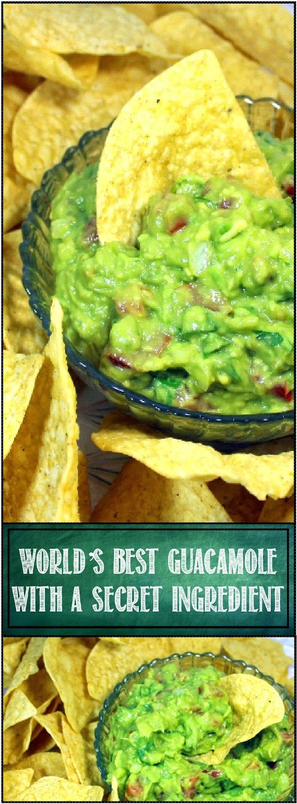World's best Guacamole with a Secret Ingredient. There are plenty of hints and tips for the technique of making fresh made guacamole. Always a crowd pleaser and welcome bring along dish for any PotLuck or big gathering. This is an incredible recipe, combination of traditional ingredients with proper technique to bring out the most flavor. and a SECRET Ingredient. Shhhhh.