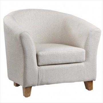 KIDS CONCEPT Barnestol/Lenestol Beige - Trenger litt gammeldags men morsom sjarm til barnerommet eller lekerommet? Denne komfortable lenestolen fra Kids Concept er laget av lintøy. Med runde armstøtter og benklosser i tre, ville det ser fantastisk ut selv i stua! Kr 799