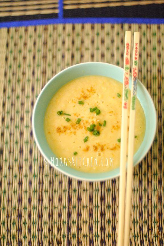 Simona'sKitchen: Zuppa di Mais, Zenzero e Curry - Corn Soup with Ginger & Curry - Soupe au Maïs, Gingembre et Curry