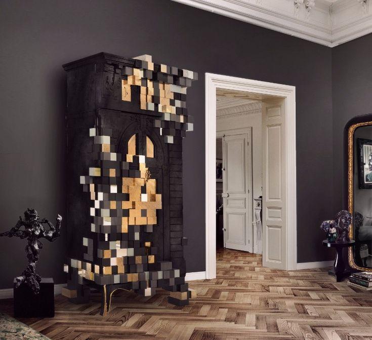 Astonishing cabinet design that deturpates reality itself | www.masterbedroomideas.eu #bedroomcabinets #cabinetsideas #masterbedroomdesign #masterbdedroomideas  #blackcabinet