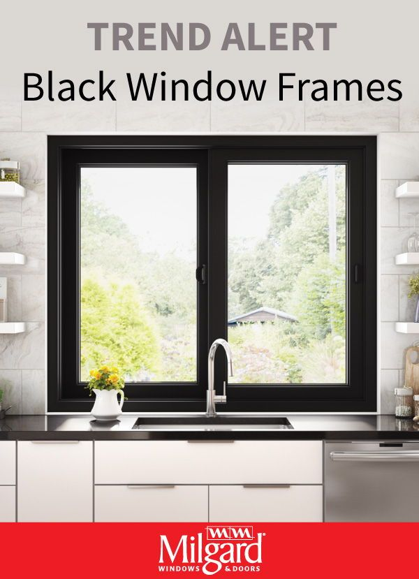 Striking Black Windows Are The New Trend For Kitchens The Sleek Black Frame Look Complements Kitchen Window Design Black Window Frames Black Windows Exterior