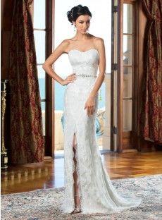 Lace Sheath Column Wedding Dress