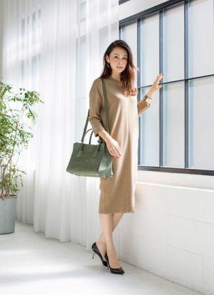 清楚なワントーンコーデ。お嬢さんタイプにおすすめのコーデ♡お嬢さんOL系のファッション・スタイル♡
