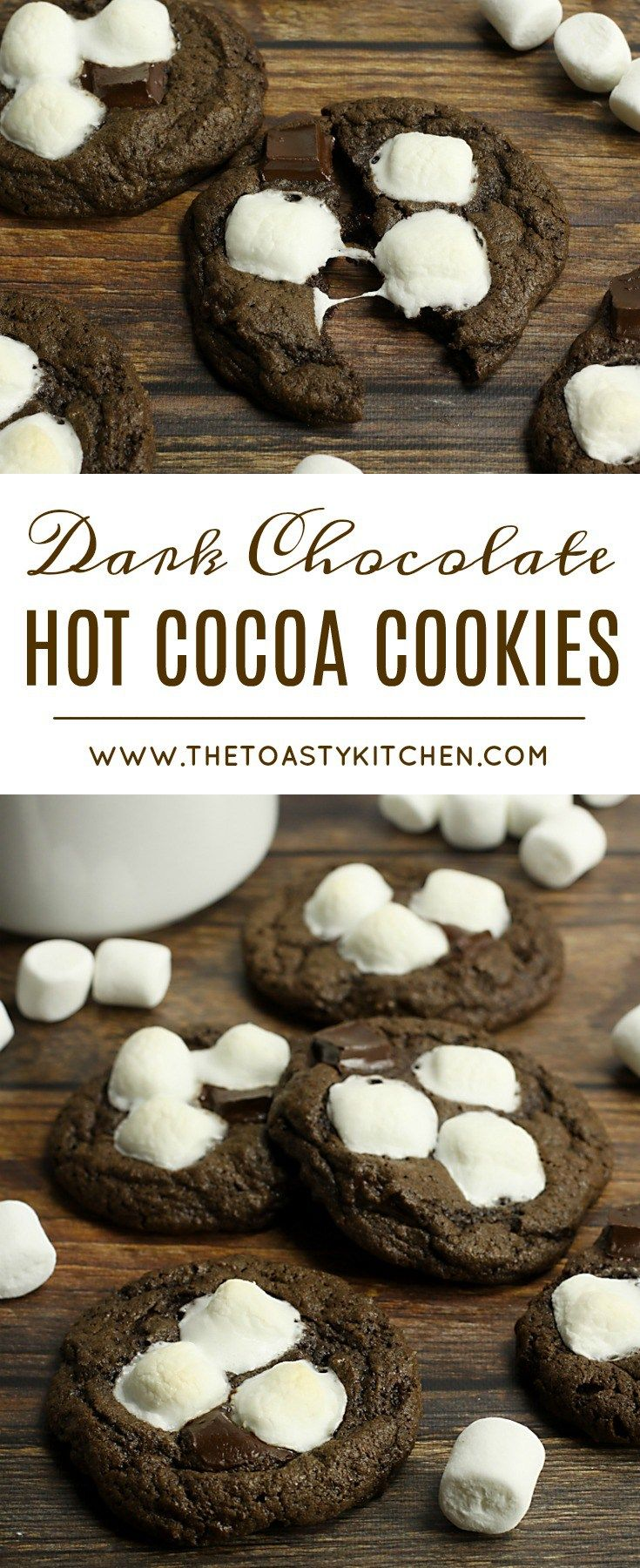 Dark Chocolate Hot Cocoa Cookies by The Toasty Kitchen