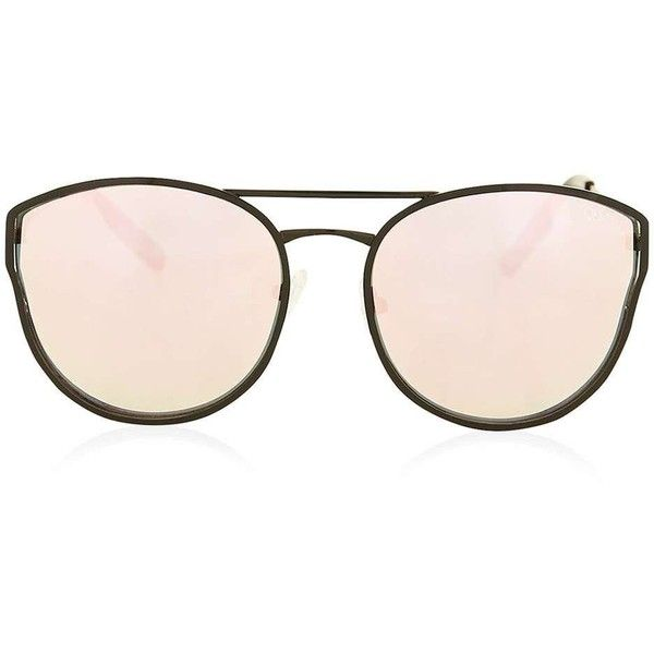 Cherry Bomb Sunglasses by Quay Australia (91 AUD) ❤ liked on Polyvore featuring accessories, eyewear, sunglasses, plastic glasses, metal-frame sunglasses, metal frame glasses, topshop sunglasses and summer glasses