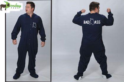 pajamas, funny pajamas, mens footed pajamas, footie pjs, footie pajamas