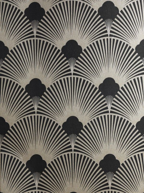 Art Deco Metallic Wallpaper Pattern