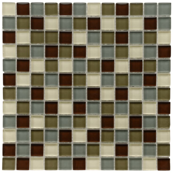 SomerTile 12x12-in Reflections Square 1-in Canopy Mosaic Tile