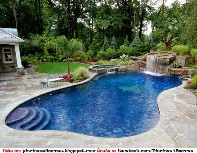 Las 25 mejores ideas sobre piscinas modernas en pinterest - Fotos de casas con piscinas pequenas ...
