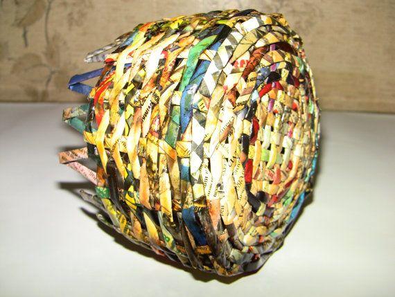 Rieten papier mand. Het kan worden gebruikt op uw discretie:  * Decor opbergbox … – Servieten