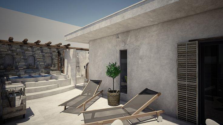 Helios Executive Suite- Veranda with oudoor jacuzzi, Elakati Luxury Boutique Hotel, Rhodes , Greece