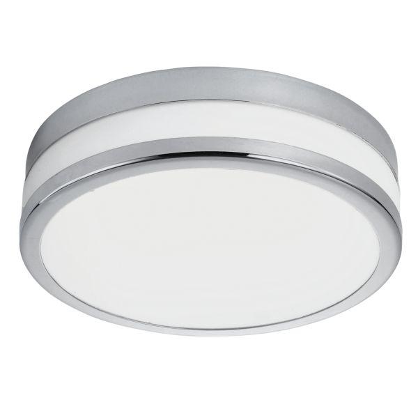 Plafon LAMPA sufitowa PALERMO 94998 Eglo szklana OPRAWA ścienna LED 11W okrągły kinkiet IP44 chrom biały