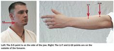 Knockout Points On Face   ... the Use of Human Pressure Points in Kyusho-Jitsu Self-Defense Moves
