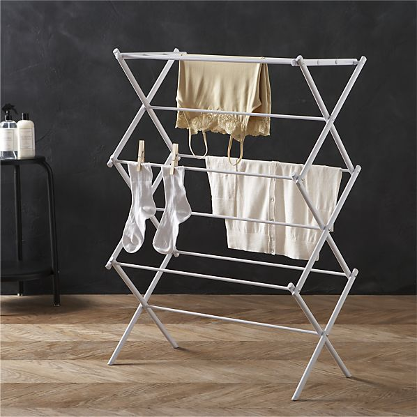 Large Folding Drying Rack in Laundry | Crate and Barrel