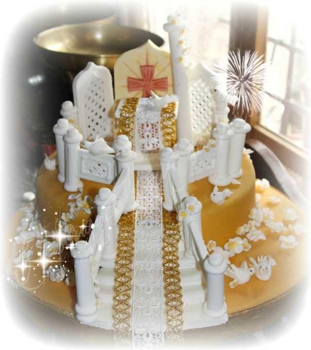 Recettes traditionnelles et cuisine nouvelle - Forum - Élégance de nos gâteaux - Gâteau autel de communion