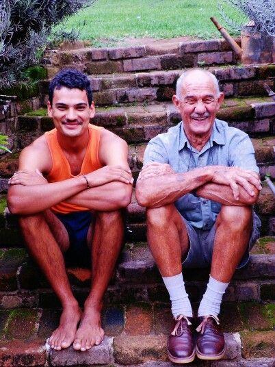 Grandfather & grandson #laughter #love