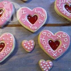 Easy Valentine Sandwich Cookies @ allrecipes.com.au