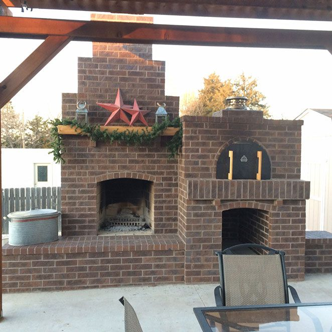 One of the best built Outdoor Fireplace and Pizza Oven combos we've seen!  This backyard oven was built with the Mattone Barile foam form and a ton of brick!  To see more pictures of this oven (and many more ovens), please visit - BrickWoodOvens.com