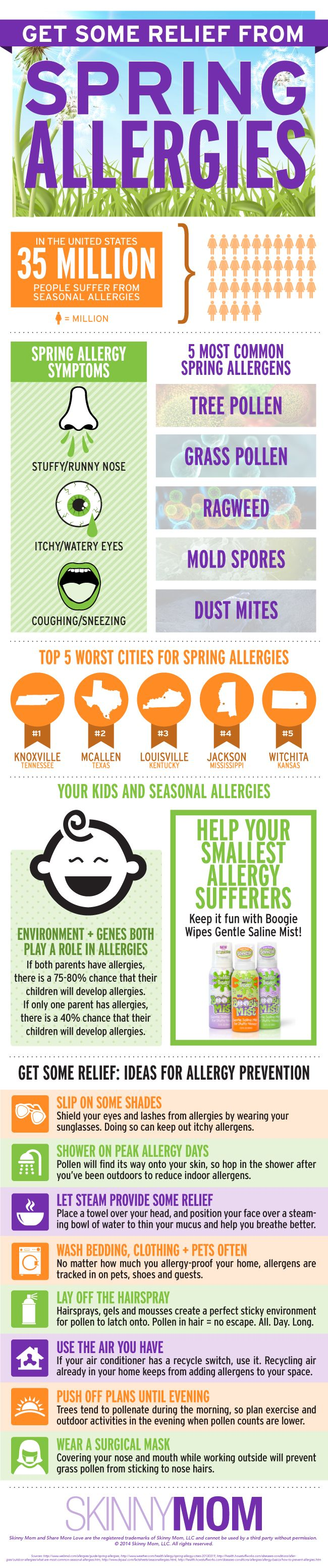 Get some relief from spring allergies infographic // Skinny Mom Blog