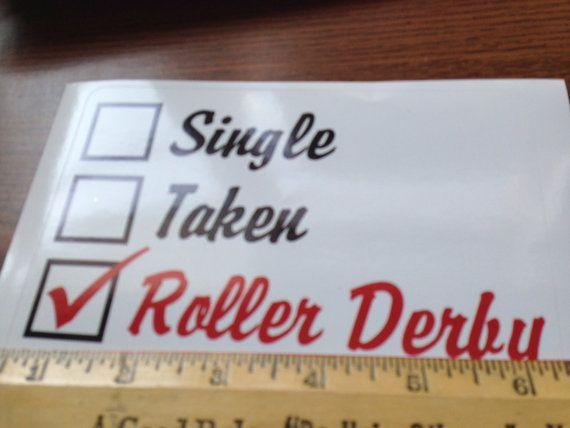 Single Taken Roller Derby Decal by Rrrshop on Etsy