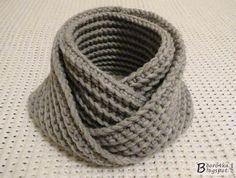 Сказочный ДОМИК: Мужской шарф-снуд крючком за 2,5 часа